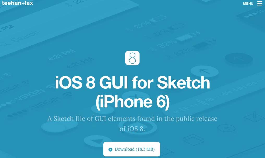 IOS 8 GUI for Sketch