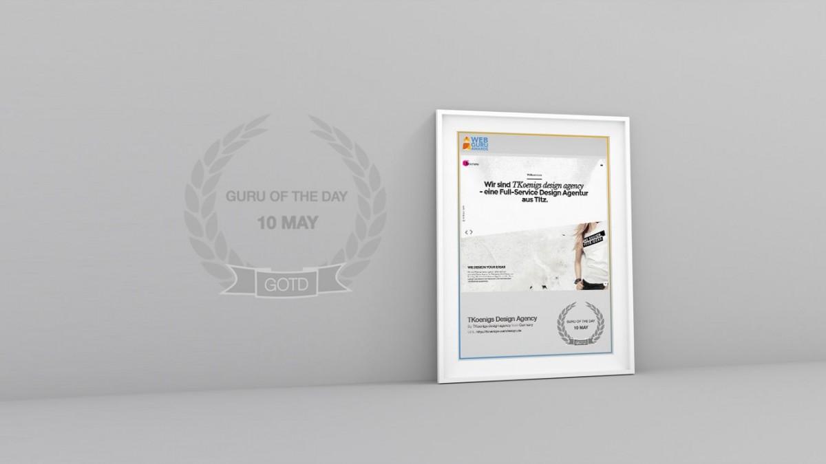 Webseite des Tages - Guru of the day bei den Web Guru Awards