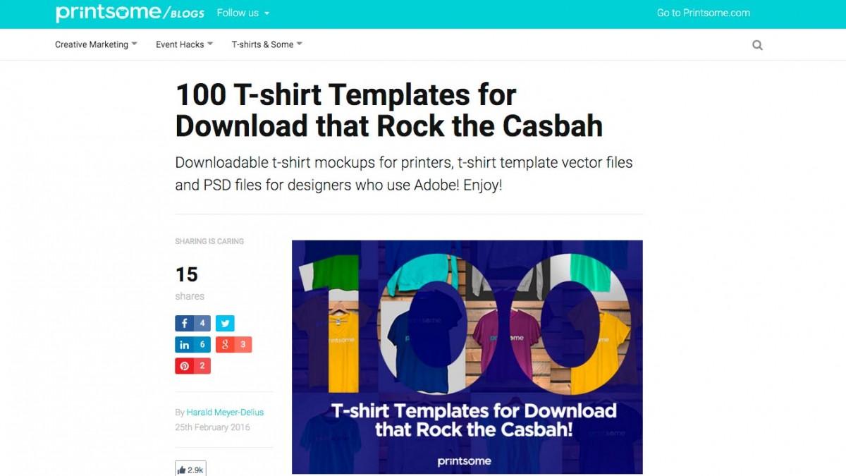 Printsome - 100 T-Shirt Mockups that rock!