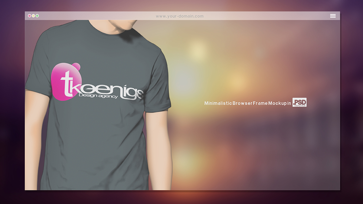 free minimalistic Browser Mockup