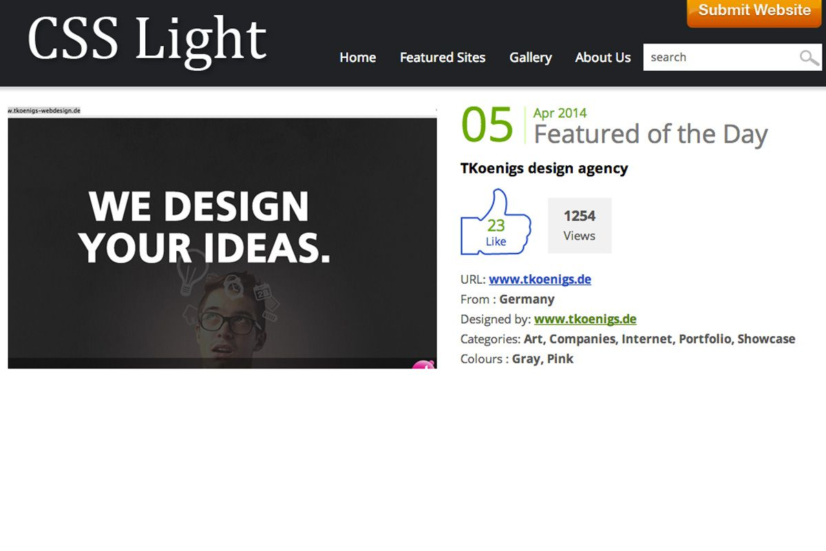 TKoenigs design agency on css light