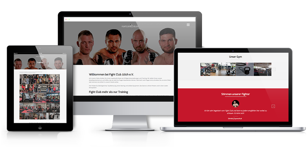 Webdesign für Fightclub Jülich e.V.