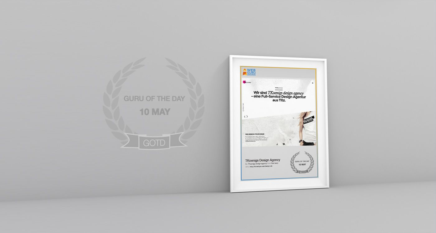 Webseite des Tages - Guru of the day bei den Web Guru Awards