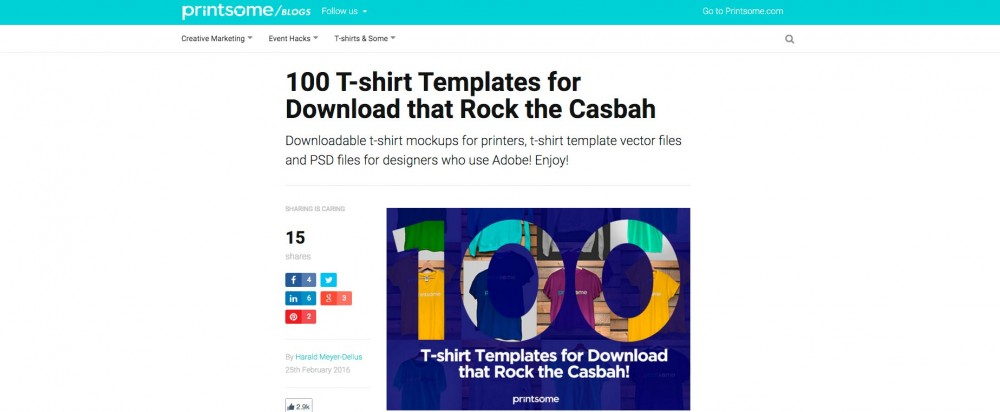 Printsome - 100 T-Shirt Mockups that rock!